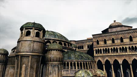 historical building : Byzantine Constantinople Clouds Timelapse  Realistic 3D render and clouds timelapse