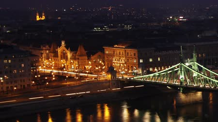 budapeste : European City at Night Timelapse Budapest Hungary