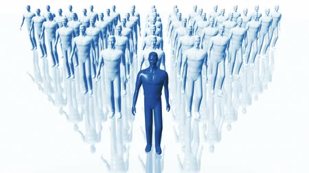 isolar : Men Walking Business Concept - Leadership Teamwork seamless loop