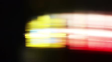 cores vibrantes : Colorful LIghts and Streaks Stock Footage