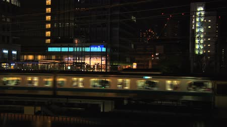 tokio : Tokyo Railway At Night Wideo