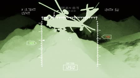 katonai : Apache AH-64D attacking helicopters in action  Simulating nightvision apache screen  Realistic 3D render