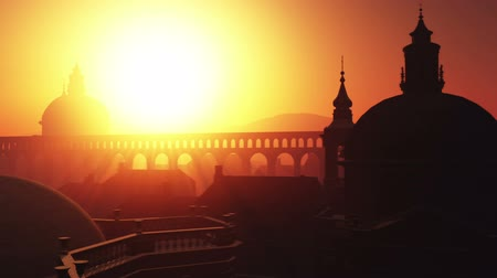 vatikan : Sunset in Rome 3D animation