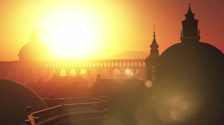 watykan : Sunset in Rome 3D animation