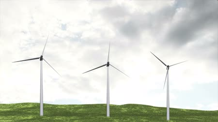 tempo real : Wind Turbine Timelapse   Realistic 3D render composited with real clouds timelapse