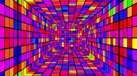 blokkok : Tunnel design retro disco animation