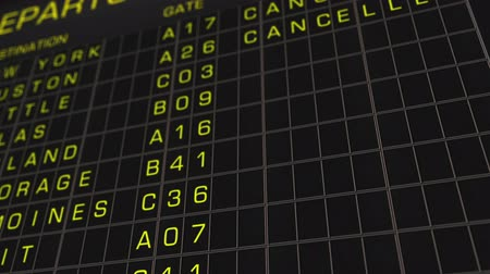 letadlo : US Domestic Airport Timetable All Flights Get Cancelled 0
