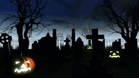 dia das bruxas : Halloween 3D animation with DOLLY motion Vídeos