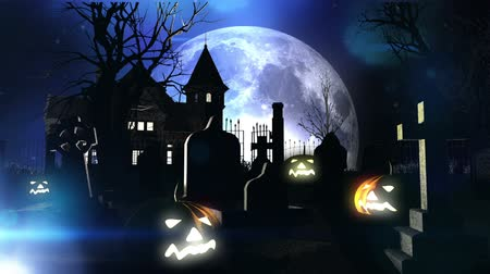 dia das bruxas : Halloween 3D animation Stock Footage