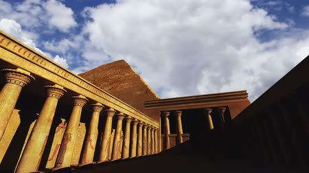 piramit : Egyptian Scene Clouds Timelapse  3D render composited with real clouds timelapse