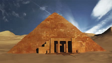egyiptomi : Egyptian Scene Clouds Timelapse  3D render composited with real clouds timelapse