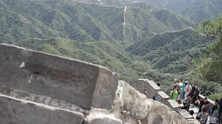 mocný : Great Wall of China near Beijing  Neutral high dynamic color range shot - giving full potential for post-production color grading and stylizing  Professional DOLLY shot