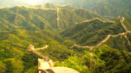 great wall of china : Great Wall of China near Beijing  Professional DOLLY motion. Nicely graded artsoft diffusion stlye. Stock Footage