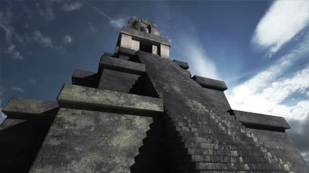 dél amerika : Maya Pyramid Clouds Timelapse  Realistic 3D render Maya Pyramid composited with real clouds timelapse.