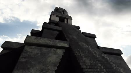 piramit : Maya Pyramid Clouds Timelapse  Realistic 3D render Maya Pyramid composited with real clouds timelapse.