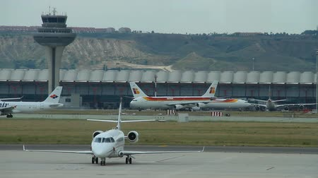 takeoff area : Airport Madrid Barajas