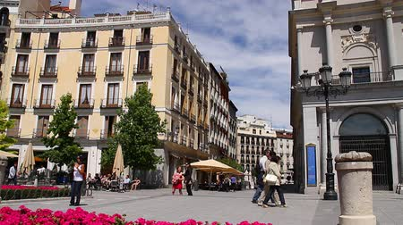 madryt : European Square - Madrid, Spain Wideo
