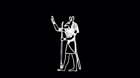 древний : Egyptian deities clean animation so that you can use your custom footage and design with them.  You can remove the black background by using Luma Key or Luma composite or transfer mode.