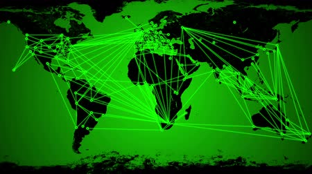 hiç kimse : Worldwide Network Connections animation.