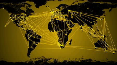 recursos : Worldwide Network Connections animation.