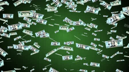 ипотека : 20 US dollar  banknotes falling animation.Money rain.Created from real banknotes.