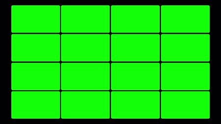 ss : Green screen box design.  You can use your custom footage replacing the green areas by using chroma key. Green is pure green so its a one click keying.