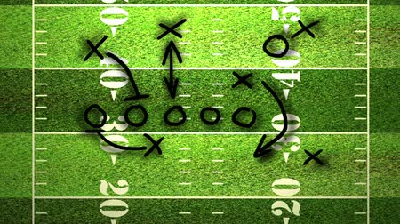 American football field tactics animation. Wideo