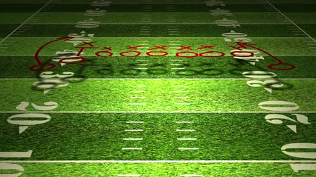 terep : American football field tactics animation. Stock mozgókép