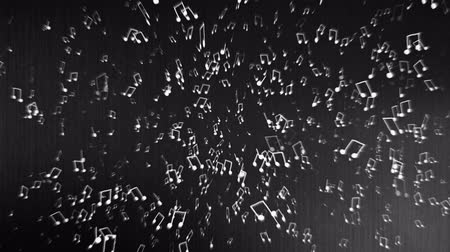 notes : Musical notes flyingrotating around in 3D space.
