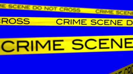 matar : Crime Scene animation with bluescreen background.Blue is pure blue so it can be keyed out easy.