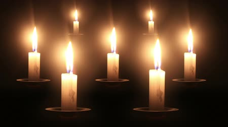 jewish people : 7 candles timelapse.  1 timelapse shot is duplicated 6 times.