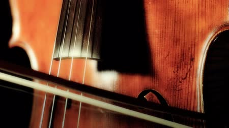 cselló : Cellist and cello.ARTCOLORED.   ver01= Hair of the bow hanging.
