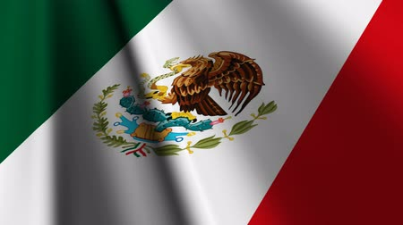 meksyk : Flag of Mexico. Wideo