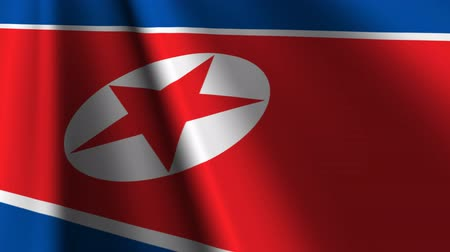 north korean flag : Flag of North Korea.