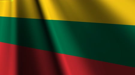 litvánia : Flag of Lithuania. Stock mozgókép
