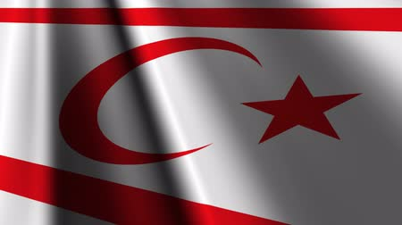 chipre : Flag of Northern Cyprus. Stock Footage