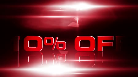 oferta : 10 percent OFF discount animation