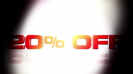 поощрение : 20 percent OFF discount animation