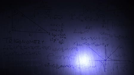 relativity : Mathematical and Physical formulas cool design Stock Footage