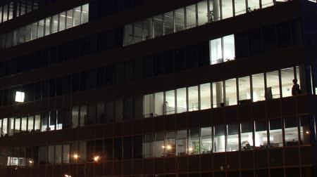 exterior : Getting Dark Over Office Buildings Timelapse overwork
