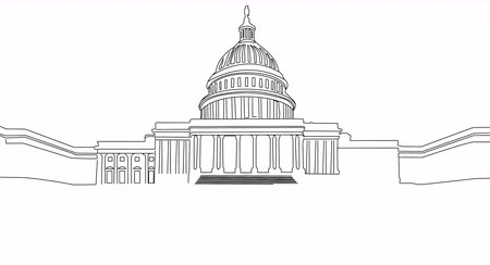 capitolium : Capitol Building Washington DC  handdrawn design
