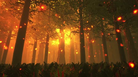 magical : Deep Forest Fairy Tale Scene 5 Fireflies 3D render