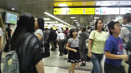 train station : Tokyo Station Subway Japan Stock Footage