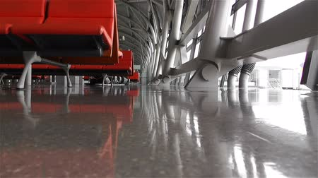 bekleme : Empty Airport Waiting Hall 2 shots