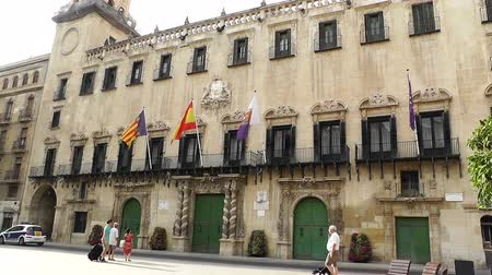 avrupa birliği : Alicante Spain Placa Ajuntament Town Hall