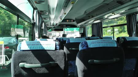 inside bus : Bus Travel in Japan
