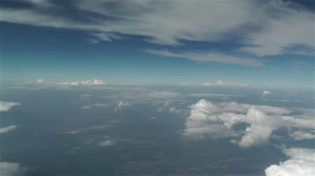 puffy clouds : Clouds Aerial Stock Footage