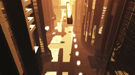 fantasia : Animazione Future City Traffic 3D