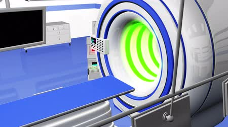 máquina : High Tech Operation Room Hospital Interior - MRI CT machine Stock Footage