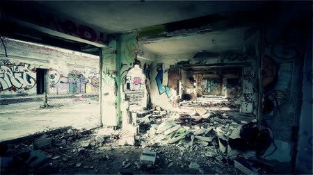 thrash : Scary Abandoned Building Complex Graffitti Walls and Massive Destruction Stylized